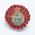POPPY WREATH RAF (ROYAL AIR FORCE) BADGE IN GOLD METAL