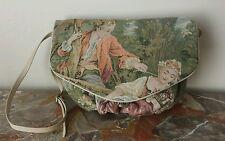 Vintage Carpet Bags of America Victorian Portrait Tapestry Hand Bag NWOT