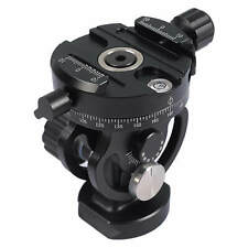 Tripod Monopod Panning Tilt Gear Head with Arca-Swiss Quick Release Plate Clamp