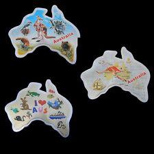 3 Australia Souvenir Metal Tin Magnet Map Kangaroo Koala Wombat Platypus