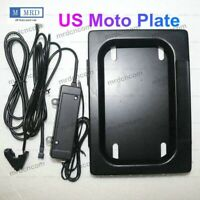 US Moto Hide-Away Shutter Cover Up Electric Stealth License Plate Frame Remote