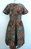MaxMara NEW Multicolored Short Sleeve Round Neck Women A-Line Dress Size 2XL