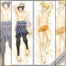 Anime Naruto Uchiha Sasuke Otaku Dakimakura Hugging Body Pillow Cover Case 150cm