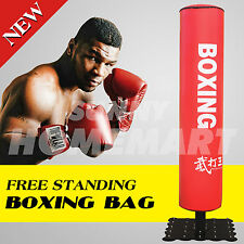 Home Gym Standing Boxing Punching Kicking Bag Fitness Practice Exercise