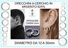 Orecchini Cerchietto Cerchio in Argento 925% Uomo Donna Misure 3mmx12mm a 30mm