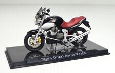 MOTO GUZZI Breva V1100 NEGRO Escala 1:24 modelo de motocicleta de Atlas die-cast