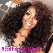 300g Brazilian Afro Kinky Curly Weft & Weave Human Virgin Hair Extension 22inche