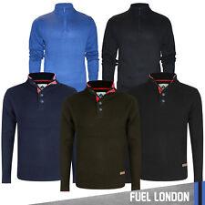Mens Jumper Zip Neck Knit Long Sleeve Pullover Sweatshirt Classic Casual Sweater