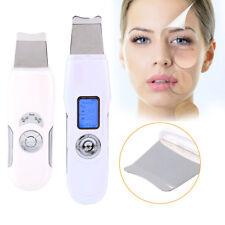Portable LCD Facial Ultrasonic Ultrasound Skin Scrubber Care Peeling Device tt2