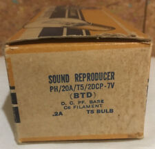 1 GE BTD SOUND REPRODUCER T5 Bulb PH/20A/T5/2DCP-7V Full Box/10 Available