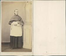 Prêtre, évêque ou cardinal en soutane, circa 1865 Vintage albumen print CDV -