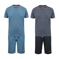 Tokyo Laundry Men's Gough Cotton Short Sleeve Pyjamas PJ Shorts Lounge Wear Set