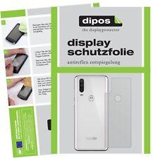 5x Schutzfolie für Motorola One Action Rückseite Display Folie matt