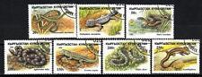 Animaux Reptiles Kirghizstan (175) série complète 7 timbres oblitérés