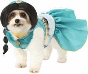 Disney Aladdin Princess Jasmine Pet Dog Costume Clothes Dress Up SM-XXL