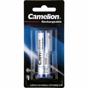 1x-10x Camelion 18650 2600mAh Protected Li-Ion Rechargeable Battery 3.7V for LED