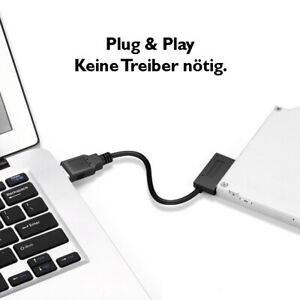 7+6 13-Pin Slim SATA auf USB CD DVD Rom Optisches Laufwerk Kabel Adapter Konvert