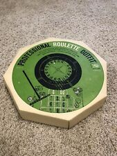Vintage Professional Roulette Outfit Set, Field Mfg Co-not complete