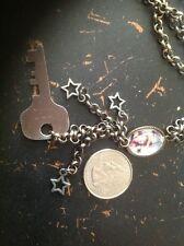Vintage Metallic Chain Neklace And Key Pendant