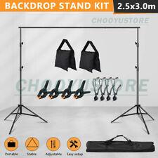 10Ft Adjust.Photo Backdrop Support Stand Photography Background Crossbar Kit+Bag