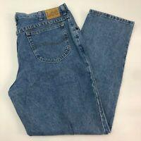 Lee Denim Jeans Mens 40X32 Blue Straight Leg Regular Cotton Medium Wash Zip Fly