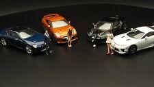 1/64 Figure Model Diorama FigureworkShop 4 pc.  Same Tarmac, Kyosho, Hotwheels