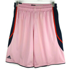Adidas Team Performance Women's M Pink Climalite Polyester Basketball Shorts