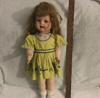 "Vintage's Ideal Doll 22"" Tall Hard Plastic."