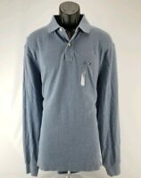 $59.50 Tommy Hilfiger Mens Dawn Blue Heather Classic Fit Long Sleeve Polo Shirt