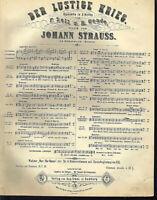 """Johann Strauss : """" nur für Natur """" Walzer, alte, übergroße Noten"""
