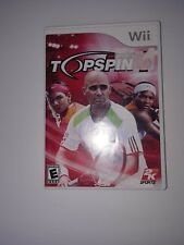 Top Spin 4 Nintendo Wii Game 2k Sports Video Games Tennis Game
