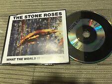 STONE ROSES - WHAT THE WORLD  CD SINGLE SILVERTONE 89 EU INDIE POP BRITPOP