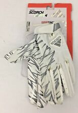 Adidas Scorch Light 4 Football Gloves White/Silver Size Youth Small New w Tags