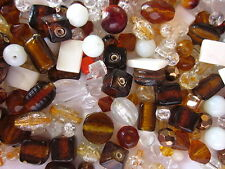 100g Autumn Glass Bead Mix (Asst Sizes/Shapes) #1842 Combine Post-See Listing