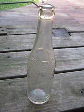 Vintage Embossed Pepsi Cola Empty Bottle Clear Bottle