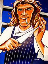 MARCO PIERRE WHITE PRINT poster white heat hell's kitchen cookbook british feast