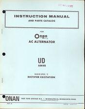 937-5 Onan UD Instruction Manual and Parts Catalog New