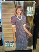 Vintage Butterick See & Sew 5333 Misses Dress Pattern - Sizes 12 & 14