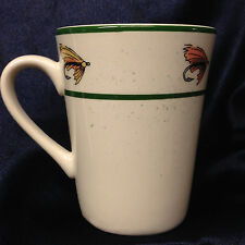 GIBSON EVERYDAY DESIGNS PACIFIC TROUT MUG 12 OZ FISHING LURES GREEN BAND