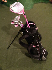 """Precise Z5 Kids 32"""" Stand Bag, 2 irons, Hybrid, driver and putter"""