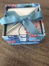 NEW Vera Bradley Note Cube With Pen Shore Thing