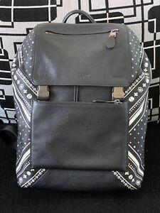 RARE COACH Bandana Patchwork Manhattan Backpack Skull Design