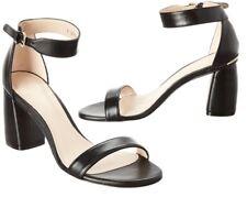 NIB $415 Stuart Weitzman Patent Leather Strap Sandal in Black Size 8(US)