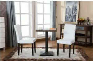 Roundhill Furniture Urban Style Solid Wood Leatherette Padded Parson Chair, Set