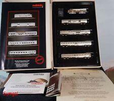 Z Scale Märklin Z 8189 - 50 year Annv California Zephyr Silverplate Train Set EC