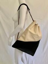 "MARNI - Italy Black Bone Softest Leather Drawstring Sling Handbag 14.5"" x 18"""