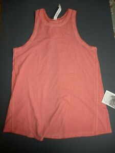 Lululemon ALL TIED UP TANK WASH SUBLIMADO PIGMENT DYE RUSTIC CORAL SZ4   NWT