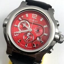 Mens Renato T-Rex 49mm Red Dial Swiss Chronograph Watch / Limited to 30 Total