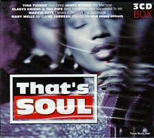 THAT`S SOUL CD - 48 SOUL CLASSICS - VARIOUS ARTISTS (NEW SEALED 3CD)