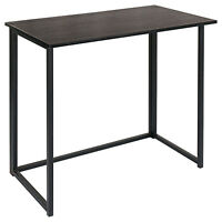 Folding Computer Desk , for Small Spaces, Simple Space-Saving Home Office Desk
